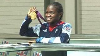 Nicola Adams and her gold medal