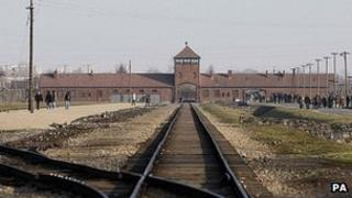 Approach to Auschwitz camp site - file pic