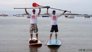 Paddleboarder Jim Elliott