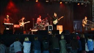 CourageHaveCourage performing at the 2012 Guernsey Festival