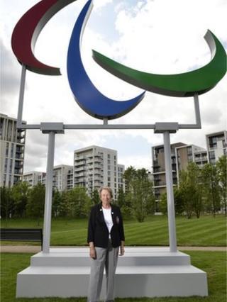Eva Loeffler at the Paralympic Village