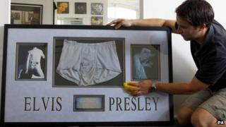 Elvis's underpants set to go up for auction