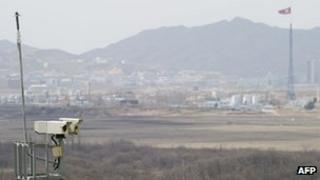 The demilitarised zone separating South Korea from North Korea