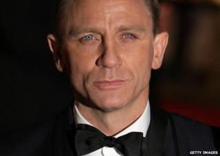 James Bond image with text hidden inside