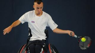 Wheelchair tennis player Andrew Lapthorne