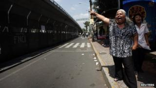 Protesters outside Mexican Electoral Court
