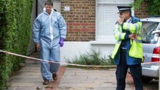 The crime scene in Rylett Road, Shepherd's Bush