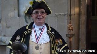 Anthony Church, town crier to the town councils of Banbury, Chipping Norton, and Daventry.