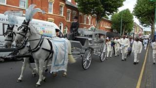 Kingsley Burrell funeral cortege