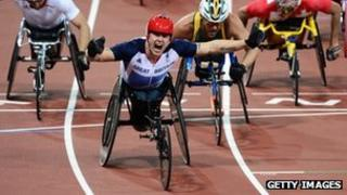 Wheelchair athlete David Weir of Great Britain