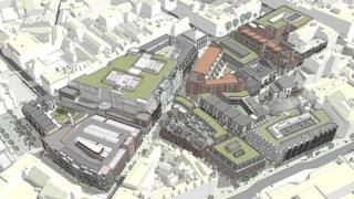 An artist's impression of the Royal Exchange project