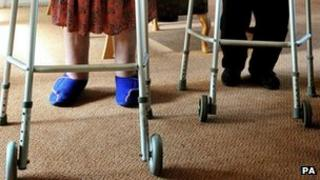 People using zimmer frame