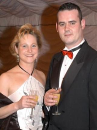 Andy and Tracey Ferrie pictured at a ball in 2006