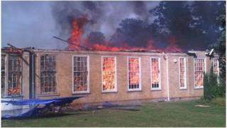 Fire at Sawston Village College