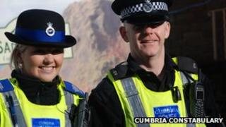 Cumbria Constabulary officers