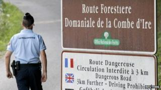 A French Gendarme in Chevaline near Annecy, on 6 September 2012