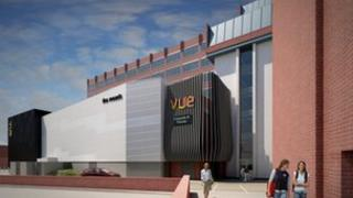 Computer generated image of the cinema in Farnborough