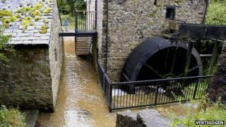 Water mill at Loggerheads