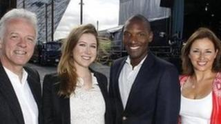 Soprano Hayley Westenra and American singer Noah Stewart join Proms in the Park hosts Noel Thompson, Claire McCollum at the Titanic Slipways, Belfast.