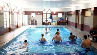 Hydrotherapy session at a swimming pool (generic)