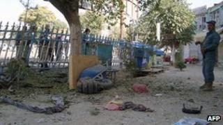 Site of the attack in Kunduz, 10 Sept 2012