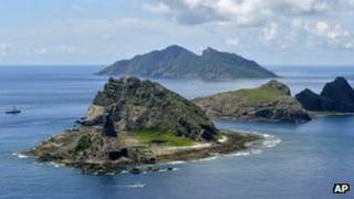 The disputed Senkaku/Diaoyu Islands in the East China Sea, 2 Sept 2012