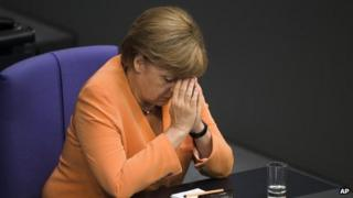 Chancellor Angel Merkel at the Bundestag, 11 September 2012
