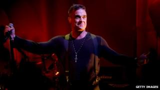 Robbie Williams at the O2 Academy in Leeds