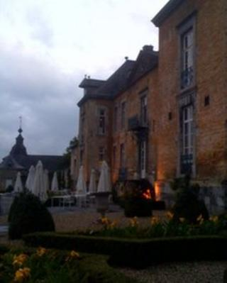 The terrace at Chateau Neercanne