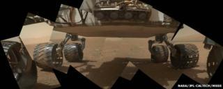 Underbelly of Mars rover