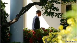 US President Barack Obama at the White House, 12 September 2012