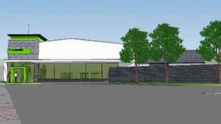 An artist's impression of plans for the Co-operative store in Machynlleth