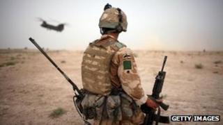 UK soldier in Afghanistan