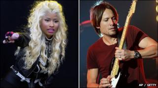 Nicki Minaj and Keith Urban