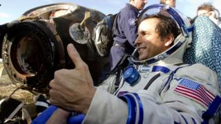 Soyuz astronaut Joe Acabe rests after safe landing in Kazakhstan