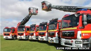 Six new fire engines at Avon Fire and Rescue