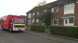 Scene of the flat fire on Trowbridge Road
