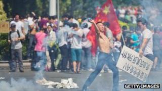 Anti-Japan Protesters in China