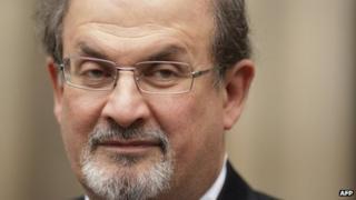 British author Salman Rushdie