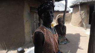 Sisters at Kukuo village, one of Ghana's six witch camps