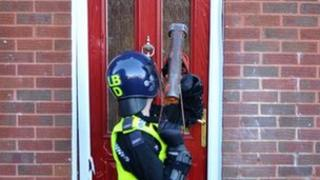 Northumbria Police carried out the raids on nine addresses