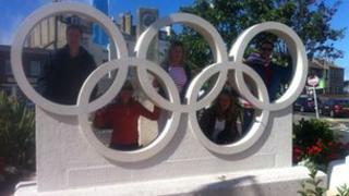 Weymouth Olympic rings