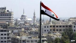 Damascus skyline (20 Sept 2012)