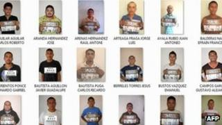 Mugshots of some of the escaped prisoners