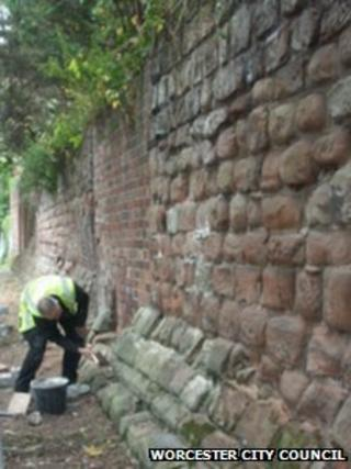 Work on the wall