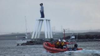 RNLI lifeboat at Newbiggin