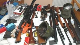Part of the firearms haul found in Karl Dowling's home in Haverhill