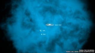 Artist's impression of gas halo surrounding Milky Way galaxy