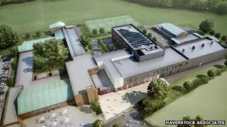 An artist's impression of how the new academy building will look