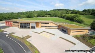 The new building in Llandrindod Wells
